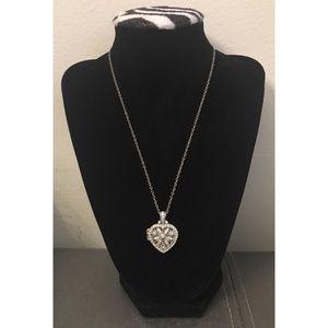NY&CO Open Heart Locket Necklace